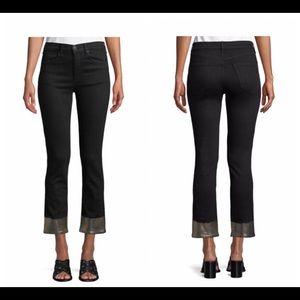 RAG & BONE Cigarette Jeans w/ Metallic Cuffs